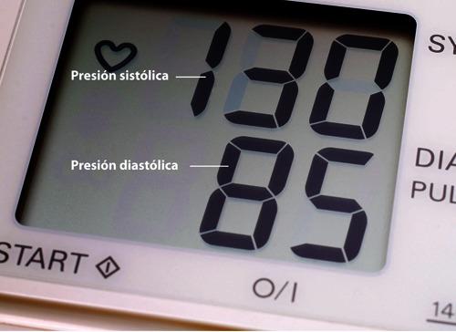 Número elevado de presión arterial baja