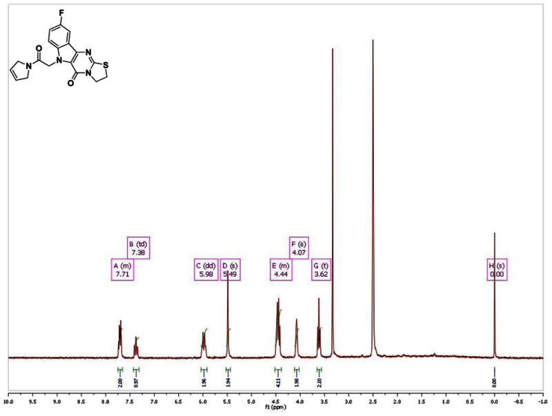 Figure 1h Nmr Spectrum 300 Mhz Dmso D6 Of Analog Cid 49868634