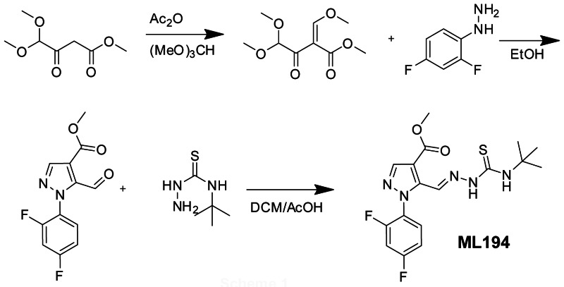 Scheme 1. Synthesis of ML194.