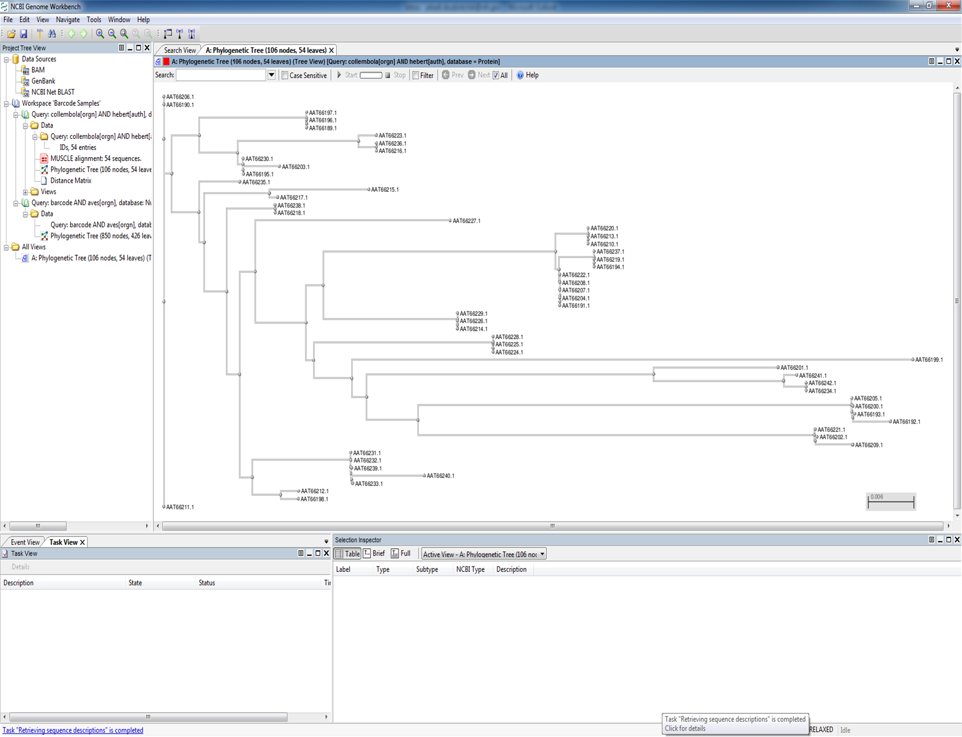 Open phylogenetic tree