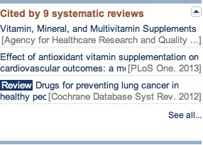Screen shot of systematic review portlet