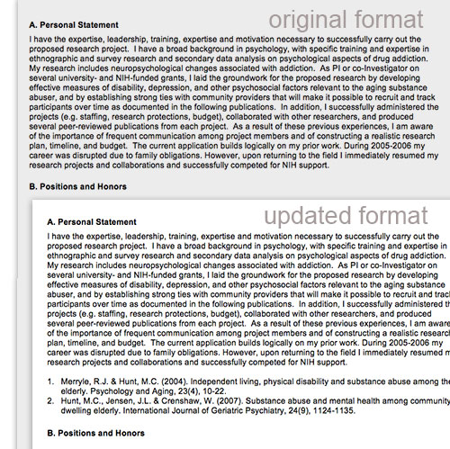 Nih Biosketch Personal Statement Instructions Personal Statement