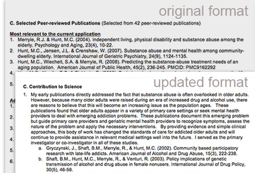 new nih biosketch personal statement A latex class implementing the new (as of 2015) nih biographical sketch  format the original template can be found at the author's github page this  latex.
