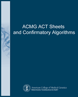 Cover of ACMG ACT Sheets and Confirmatory Algorithms
