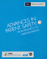 Cover of Advances in Patient Safety: From Research to Implementation (Volume 1: Research Findings)