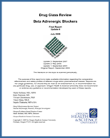 Cover of Drug Class Review: Beta Adrenergic Blockers