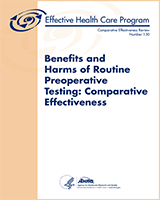 Cover of Benefits and Harms of Routine Preoperative Testing: Comparative Effectiveness