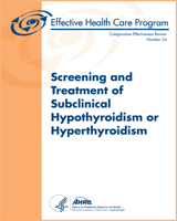 Cover of Screening and Treatment of Subclinical Hypothyroidism or Hyperthyroidism