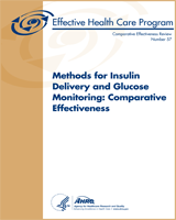 Cover of Methods for Insulin Delivery and Glucose Monitoring: Comparative Effectiveness