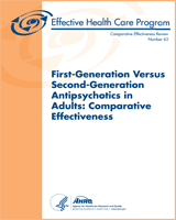 Cover of First-Generation Versus Second-Generation Antipsychotics in Adults: Comparative Effectiveness