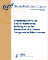 Cover of Breathing Exercises and/or Retraining Techniques in the Treatment of Asthma: Comparative Effectiveness