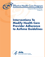 Cover of Interventions to Modify Health Care Provider Adherence to Asthma Guidelines