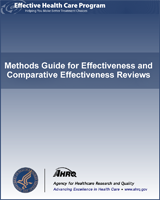 Cover of Methods Guide for Effectiveness and Comparative Effectiveness Reviews