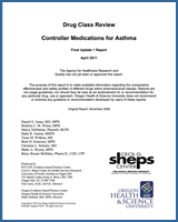 Cover of Drug Class Review: Controller Medications for Asthma
