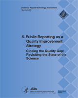 Cover of Closing the Quality Gap: Revisiting the State of the Science (Vol. 5: Public Reporting as a Quality Improvement Strategy)