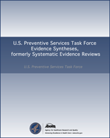 Cover of Screening for Elevated Blood Lead Levels in Pregnant Women: A Systematic Review for the U.S. Preventive Services Task Force