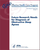 Cover of Future Research Needs for Diagnosis of Obstructive Sleep Apnea