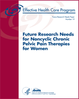 Cover of Future Research Needs for Noncyclic Chronic Pelvic Pain Therapies for Women