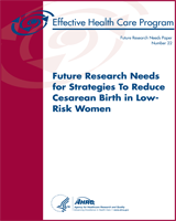 Cover of Future Research Needs for Strategies To Reduce Cesarean Birth in Low-Risk Women