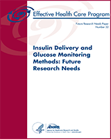Cover of Insulin Delivery and Glucose Monitoring Methods: Future Research Needs