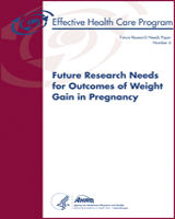 Cover of Future Research Needs for Outcomes of Weight Gain in Pregnancy