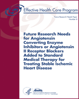 Cover of Future Research Needs for Angiotensin Converting Enzyme Inhibitors or Angiotensin II Receptor Blockers Added to Standard Medical Therapy for Treating Stable Ischemic Heart Disease