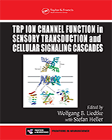 Cover of TRP Ion Channel Function in Sensory Transduction and Cellular Signaling Cascades