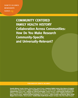 family health history questionnaire community centered family