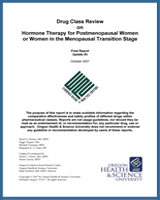 Cover of Drug Class Review: Hormone Therapy for Postmenopausal Women or Women in the Menopausal Transition Stage
