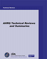 Cover of AHRQ Technical Reviews