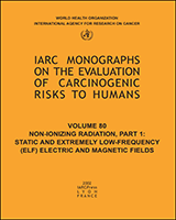 Cover of Non-Ionizing Radiation, Part 1: Static and Extremely Low-Frequency (ELF) Electric and Magnetic Fields