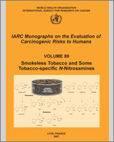 Cover of Smokeless Tobacco and Some Tobacco-specific N-Nitrosamines
