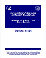 Cover of Surgeon General's Workshop on Women's Mental Health