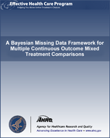 Cover of A Bayesian Missing Data Framework for Multiple Continuous Outcome Mixed Treatment Comparisons