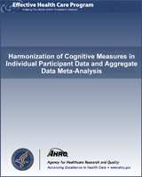 Cover of Harmonization of Cognitive Measures in Individual Participant Data and Aggregate Data Meta-Analysis