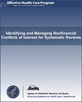 Cover of Identifying and Managing Nonfinancial Conflicts of Interest for Systematic Reviews
