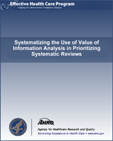 Cover of Systematizing the Use of Value of Information Analysis in Prioritizing Systematic Reviews