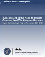 Cover of Assessment of the Need to Update Comparative Effectiveness Reviews