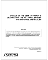 Cover of Impact of the DSM-IV to DSM-5 Changes on the National Survey on Drug Use and Health