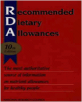 Cover of Recommended Dietary Allowances