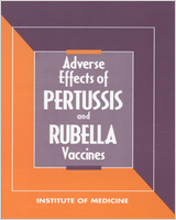 Cover of Adverse Effects of Pertussis and Rubella Vaccines