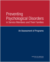Cover of Preventing Psychological Disorders in Service Members and Their Families