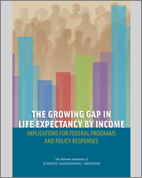 Cover of The Growing Gap in Life Expectancy by Income