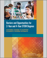 Cover of Barriers and Opportunities for 2-Year and 4-Year STEM Degrees