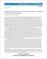 Cover of Together We Can Do Better: A Gathering of Leaders in Academia to Prevent Sexual Harassment
