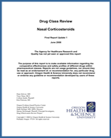 Cover of Drug Class Review: Nasal Corticosteroids