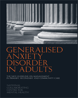 Cover of Generalised Anxiety Disorder in Adults
