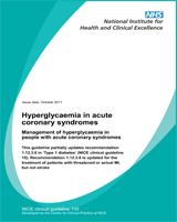 Cover of Hyperglycaemia in Acute Coronary Syndromes