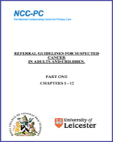 Cover of Referral Guidelines for Suspected Cancer in Adults and Children
