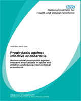 Cover of Prophylaxis Against Infective Endocarditis